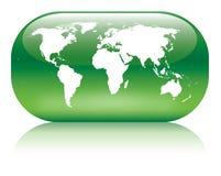 Globe vert Image stock