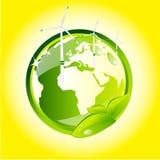 Globe vert d'eco Photographie stock