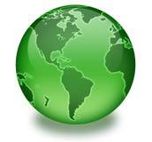 Globe vert de durée Photographie stock libre de droits