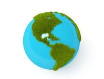 Globe vert du monde Image libre de droits