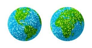 Globe vert et bleu de la terre d'herbe Photographie stock