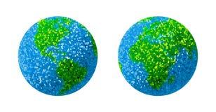 Globe vert et bleu de la terre d'herbe Photographie stock libre de droits