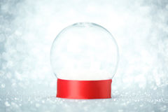 Globe vide de neige Image libre de droits