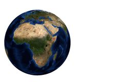 Globe view Africa. Whole earth globe view focus on Africa Royalty Free Stock Image