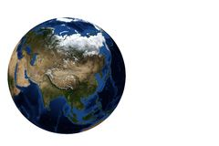 Globe view Asia Royalty Free Stock Image