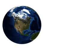 Globe view North Amercia Royalty Free Stock Images