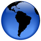 Globe view - South America. Rasterized pseudo 3d  globe view - South America Stock Photography