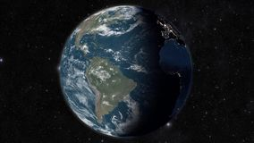 Globe view from space stock illustration