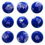 Globe views Stock Photography