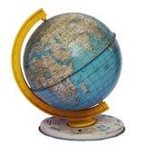 Globe. Vintage tin globe on white Royalty Free Stock Photo