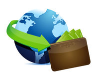 Globe wallet Royalty Free Stock Photos