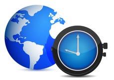 Globe watch illustration design Stock Image