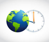 Globe and watch illustration design Royalty Free Stock Photos