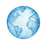 Globe water. Isolated globe water with white background stock photo