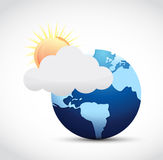 Globe and weather illustration design Stock Images