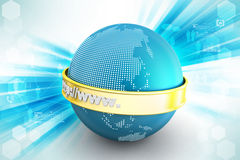 Globe with web address Royalty Free Stock Images