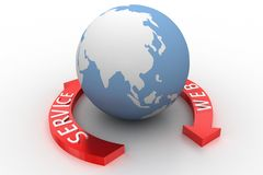 Globe with web services Stock Images