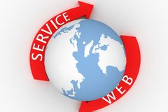 Globe with web services Royalty Free Stock Photography