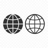Globe web symbol icon set. Planet with parallels and meridians. Globe web symbol icon set. Planet with parallels and meridians sign Stock Photo