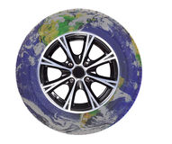 Globe-wheel Royalty Free Stock Images