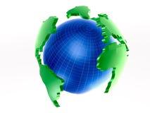 Globe on white Royalty Free Stock Image