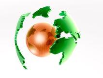 Globe on white Royalty Free Stock Photos