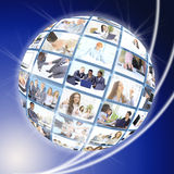 A globe is  on a white Royalty Free Stock Photography
