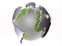 Globe on white Stock Photos