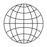 globe wireframe royalty ilustracja