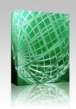 Globe wireframe abstract box package Stock Photos