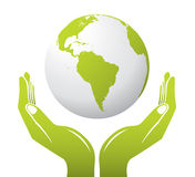 Globe With Hands Stock Photography