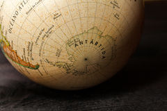 Globe. On a wooden surface Royalty Free Stock Photography