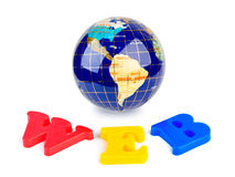 Globe and word WEB Royalty Free Stock Image
