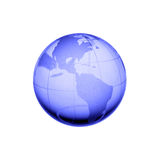Globe of the World. Blue globe Royalty Free Illustration