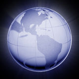 Globe of the World. Blue globe Vector Illustration