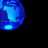 Globe of the World. Blue globe Stock Illustration