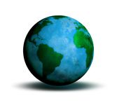 Globe World. Ancient looking World globe illustration Royalty Free Stock Photo