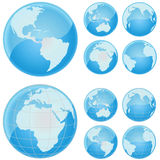 Globe of the world. Set of globe of the world vector Stock Photos