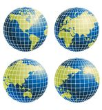 Globe of the World. Vector illustration background Royalty Free Stock Photos