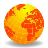 Globe of the World. Europe and Africa Royalty Free Stock Images