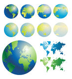 Globe of the World. Vector illustration Stock Image