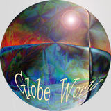 Globe world as background. The globe world as computers backgtound Royalty Free Stock Photos
