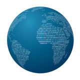 Globe world binary Royalty Free Stock Image