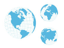 Globe of the World, blue Royalty Free Stock Image