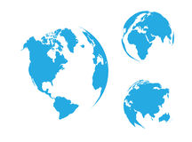 Globe of the World, blue Stock Photography