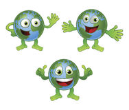 Globe world cartoon character Royalty Free Stock Images