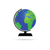 Globe of the world color vector. Illustration on a white Stock Photo