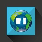 Globe world connection data transfer service Royalty Free Stock Image