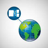 Globe world connection data transfer service Royalty Free Stock Photography
