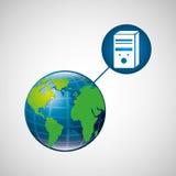 Globe world cpu connection service Royalty Free Stock Photos